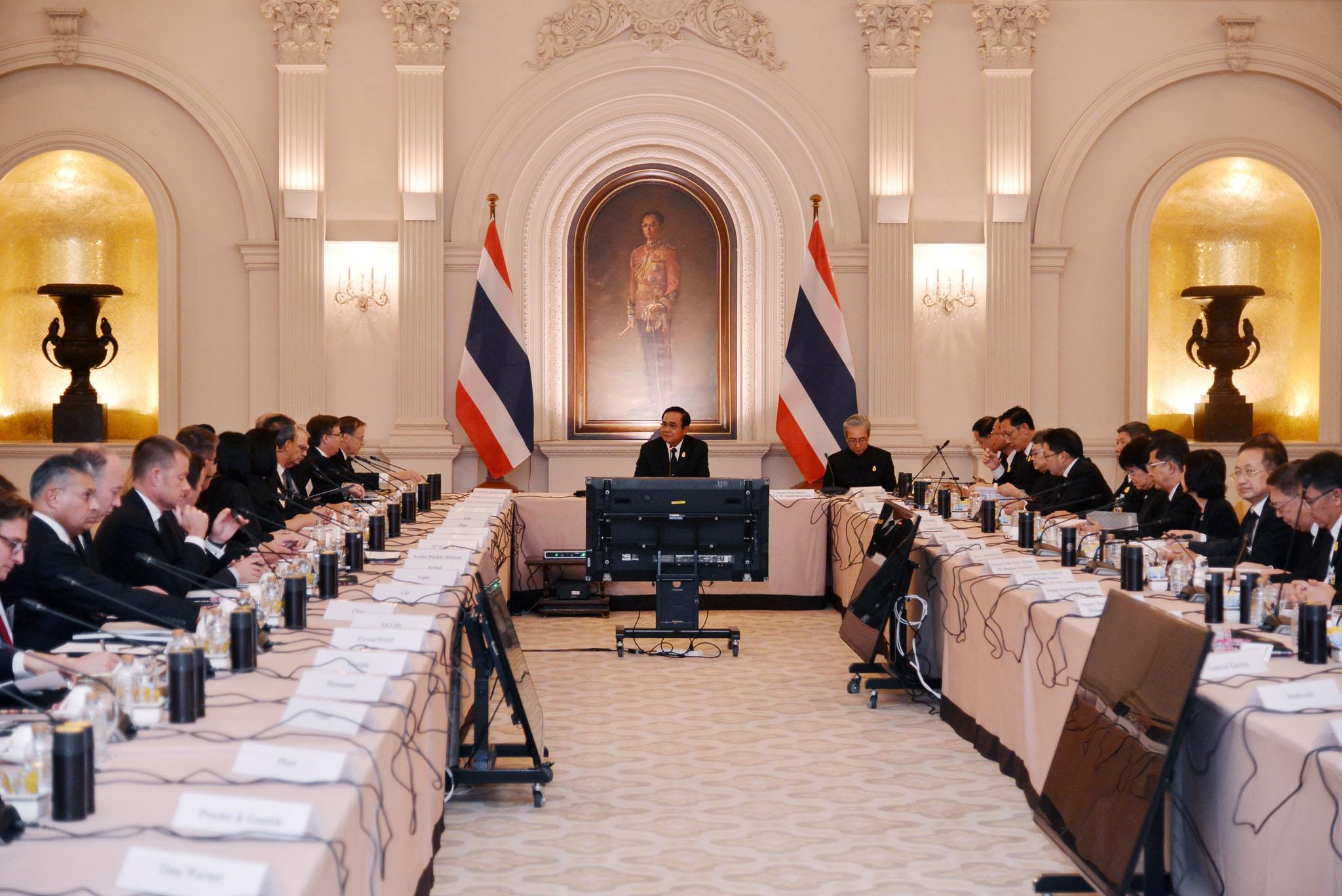美國-東盟商會訪泰 巴育邀投資