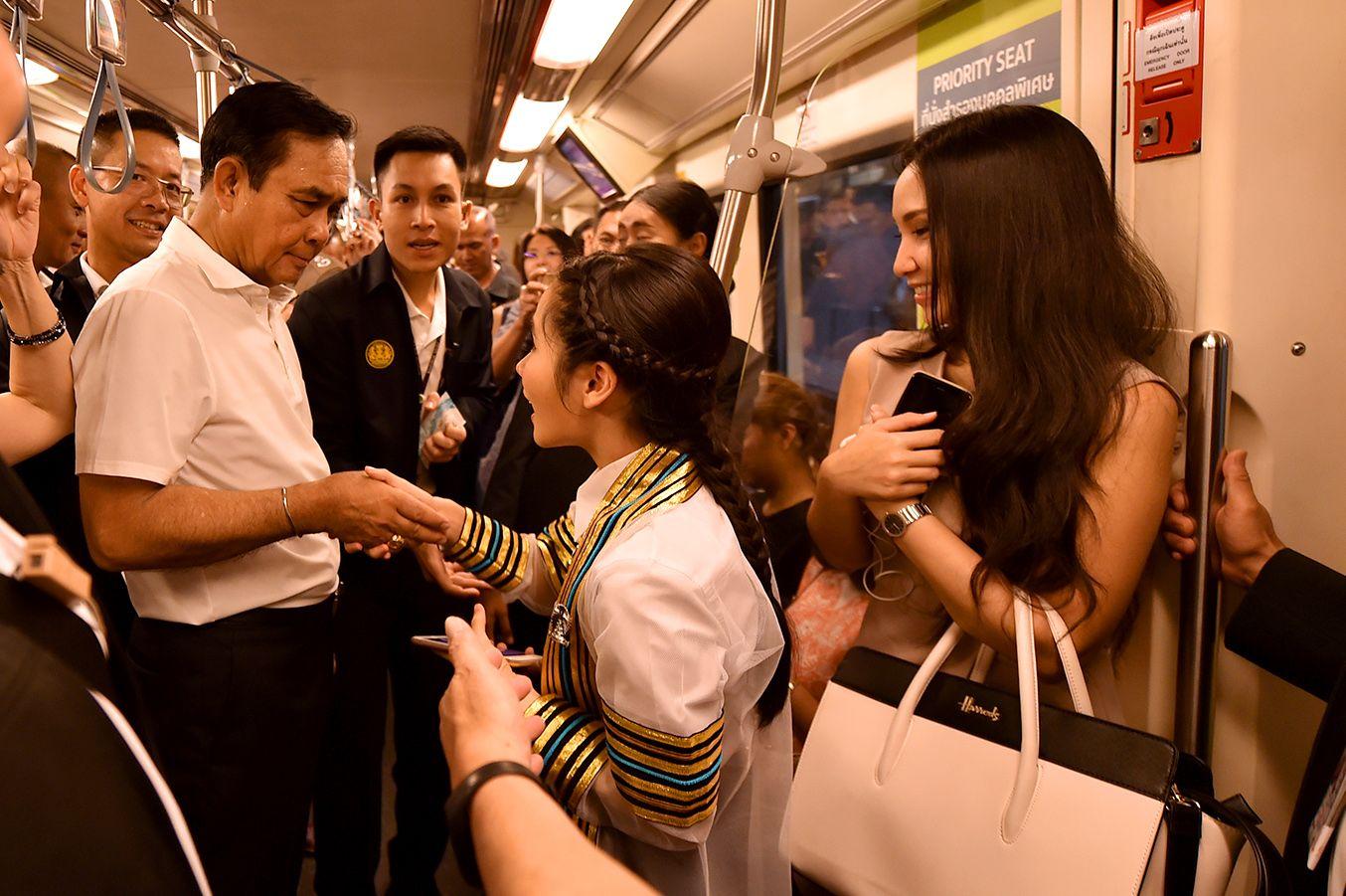 曼谷交通網無縫連接 巴育視察