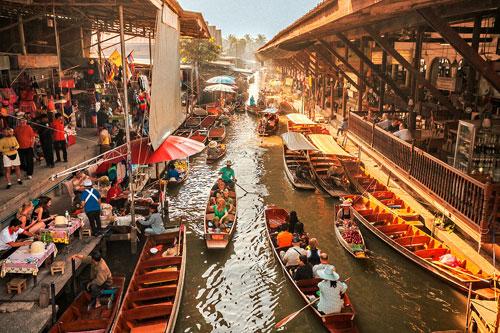 百年水上市場「丹嫩沙多」的中國淵源